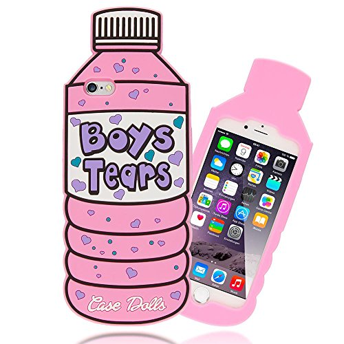 iPhone 6 6S 3D Hülle Handyhülle von NICA, Dünnes Silikon Cartoon-Case Cover Stoßfeste Anti-Rutsch Schutzhülle, Backcover Handy-Tasche Bumper Phone Etui für Apple iPhone-6S 6, Designs:White Cat Boys Tears
