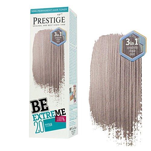 Be Extreme Halb-Dauerhafter Haar-Toner-Farbe Titan 20 - Ohne von Ammoniak, Ohne von Parabene und PPD (Ppd-haare Färben)