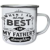 Mi Padre Hija Retro, lata, taza del esmalte 10oz/280ml n449e
