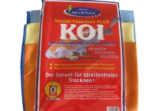 Koi Panno per finestre in fibra speciale, set da 3