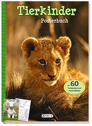 Preisvergleich Produktbild Tierkinder Posterbuch: Über 60 Farbposter und Ausmalbilder