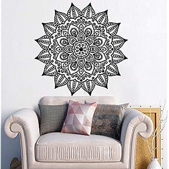 Mandala Wandtattoo | Mandala Lotus Blumendekor | Mehndi Wandaufkleber | Yoga Studio Aufkleber | Hergestellt in Polen | Oracal | Boho indisches Schlafzimmer | Mandala böhmische Wandkunst | MN1069