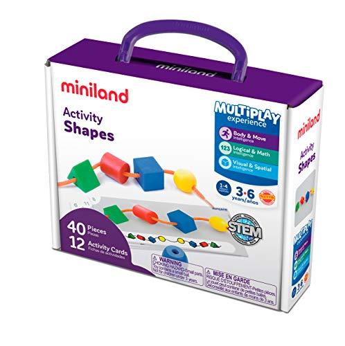 Miniland ED-Figuras ENSARTABLES 40 pzas