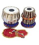 Indischer Maharadscha Student EA Tabla Trommel-Set, Stahl, Bayan, Dayan mit Buch, Hammer, Kissen und Abdeckung