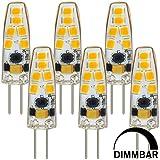 MENGS® 6 Stück Dimmbar G4 LED Lampe 3W AC/DC 12V Warmweiß 3000K 12x2835 SMD Mit Silikon Mantel