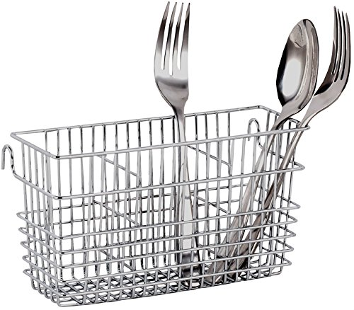 Sturdy Chrome-plated Steel Utensil Drying Rack Basket Holder (Chrome II) by Neat-O