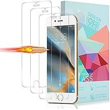 [3-Unidades] Protector de Pantalla iPhone 7 / 6s / 6, ONSON Cristal Vidrio Templado Premium Para Apple iPhone 7 / iPhone 6s / iPhone 6 [9H Dureza][Alta Definicion 0.33mm] [3D Touch Compatibles]
