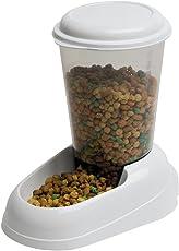 Ferplast Futterspender Zenith für Katzen und Hunde/Hochwertiger Spender mit transparentem Nachfülltank/Farbe: Weiß/Größe: 3 Liter