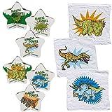 Bada Bing 6er Set Magisches Handtuch Zauberhandtuch 30 x 30 Dinosaurier Dino T- Rex Triceratops 21