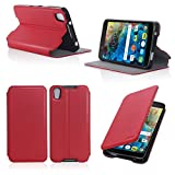 Etui luxe Alcatel Onetouch Idol 4 5.2 pouces rouge Slim Cuir Style avec stand -...