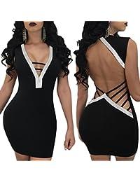 9f11c27e1cc6 Amazon.it  mini abito sexy - Tubino e Peplum   Vestiti   Donna ...