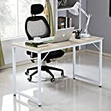 soges Schreibtisch 120x60cm PC-Tisch Arbeitstisch Bürotisch Holz Computerschreibtisch, Weiß ZS-JJMP