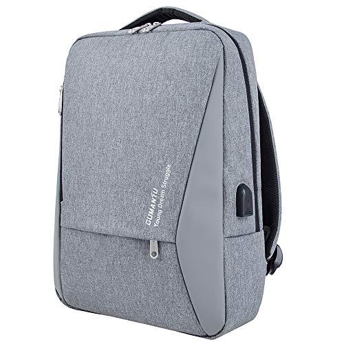 WZTP Impermeabile Zaino per Computer Portatile 15.6 Antifurto Slim  di affari Notebook Laptop Rucksack  Nero