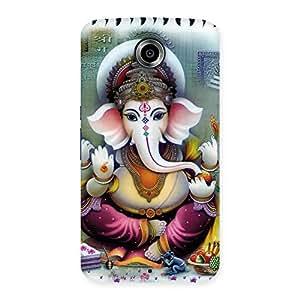 Impressive Ganesha Blessings Back Case Cover for Nexsus 6