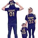 Minetom Vater Mutter Sohn Tochter Und Baby Outfits Eltern Kind Outfits Familien Matching Kleidung 03 Kid 100 cm