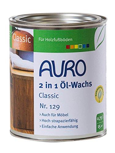 AURO 2 in 1 Öl-Wachs Classic Nr. 129 Farblos, 0,75 Liter