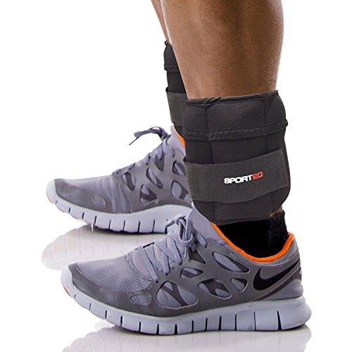 Sporteq Verstellbares Handgelenkband Knöchel-gewichte Resistance Krafttraining Training Armbänder Riemen Fitnessstudio, 1.5kg, 2.5kg,5kg - Schwarz, 1,5 Kg / Paar