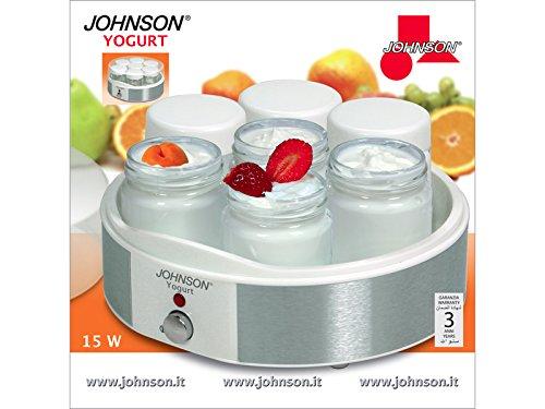Johnson Joghurt Maker–Joghurtbereiter Elektrische–Maschine Edelstahl 7x 1kg (Soja-milch Maker)