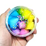 Italily Fluffy Frutta Noce di cocco Fango Mixing Nube limo Morbidosi stucco Profumato Stress bambini Argilla Giocattolo Slurry Fango di cristallo Toy (A)