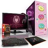 Fierce Kawaii Kraze RGB Gaming PC Bundeln - Schnell 4 x 3.7GHz Quad-Core AMD Ryzen 3 2200G, 1TB Festplatte, 16GB von 2133MHz DDR4 RAM / Speicher, AMD Radeon Vega 8 integrierte grafik, Gigabyte Ultra-Durable GA-A320M-S2H Hauptplatine, GameMax Draco with Sweet Treat HD Armour RGB Computergehäuse, HDMI, USB3, Wi - Fi, Perfekt für Wettkampfspiele, Windows nicht Enthalten, Tastatur (VK/QWERTY), Maus, 24-Zoll-Monitor, Headset, 3 Jahre Garantie 959307