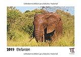 Elefanten 2019 - Timokrates Tischkalender, Bilderkalender, Fotokalender - DIN A5 (21 x 15 cm)