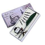 FUNRUI Federhalter Kalligraphie Set Metall Federkiel Kugelschreiber, Kalligraphie Geschenkset mit Leere Tinte Flasche und 6 Stück Nib