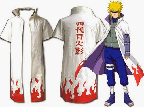 CoolChange Naruto Mantel von Minato Namikaze, Vierter Hokage Verkleidung, Größe: (Minato Kostüm Cosplay)