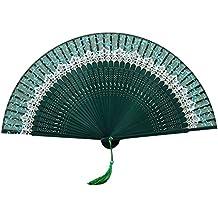 Zhhlaixing Art High-grade Manual Crafts Classical Chinese Silk Bamboo Folding Fan