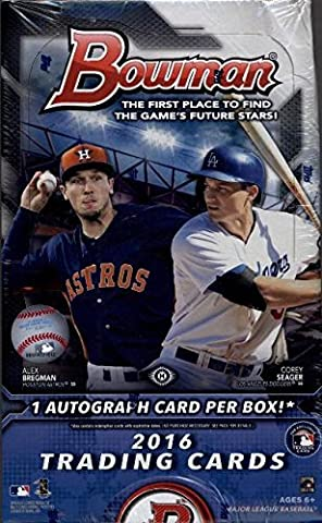 2016 Bowman Baseball Cards Hobby Box (24 Packs of 10 Cards) (Release Date - 04/27/2016) by Bowman Baseball