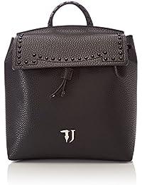 Trussardi Jeans Violet Smooth Ecoleather Backpack Bag - Mochilas Mujer