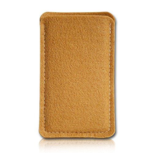 Filz Style Mobistel Cynus E4 Premium Filz Handy Tasche Hülle Etui passgenau für Mobistel Cynus E4 - Farbe kupfer