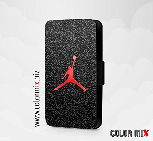Michael Jordan Basketball Sports Handyhülle/Klapphülle/Faux Leather Flip Cover für iPhone Samsung Galaxy (Jordan Air 4s)