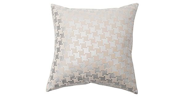 Metallic Houndstooth Velvet Pillow