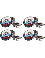 Outletdelocio. 4 latas de 500 perdigones Gamo Round Bola 4,5mm. Modelo 320334