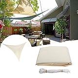 LaDicha 3.5 M/11Ft Dreieck Sonnenschirm Segel Uv Wasserresistent Überdachung Patio Gartenzelt Markise
