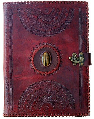 blf-vintage-handmade-embossed-leather-portfolio-resume-pad-folio-cover-file-folder-professional-busi