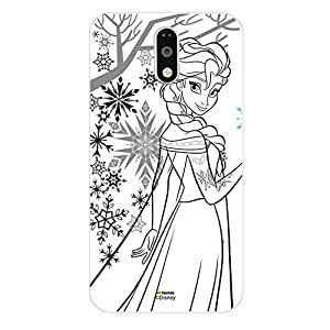 Hamee Disney Princess Frozen Official Licensed Designer Cover Hard Back Case for Lenovo K4 Note (Elsa / Outline)