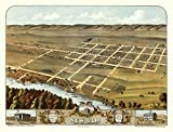 The Poster Corp Antique Map of ULM Minnesota 1870 Brown