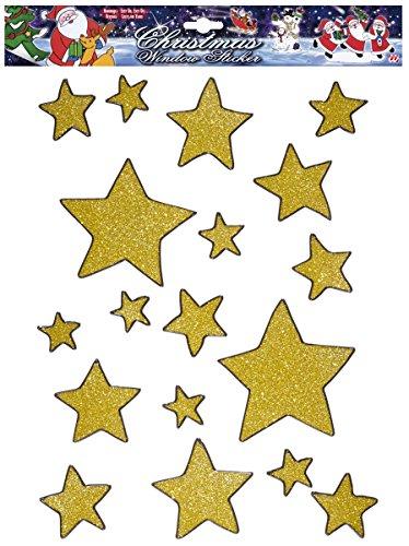 Fensterdeko-goldene-Sterne-Weihnachtsdeko