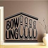 BFMBCH Creative Bowling Stickers Muraux Chambre D'enfants Décoration Home Party Décoration Papier Peint Décorations À La Maison Accessoires Stickers Muraux Bleu L 43 cm X 56 cm...