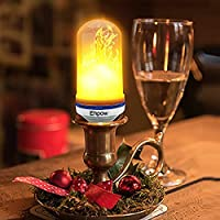 Ehpow LED Flame Effect Light Bulb E27 Flicker Flame Lights Simulated Vintage Decoration Lamps for Home Garden Party Bar Restaurants by Ehpow