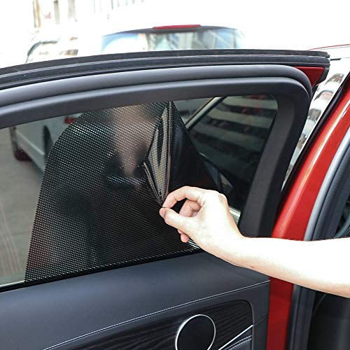 Gfyee Autofenster Sonnenschutz Kinder Mit Uv Schutz 2 StüCk, Sonnenschutz Auto Seitenscheibe, Sonnenschutzfolie Auto Selbsthaftend TöNungsfolie Schwarz, Car Sun Shade Sonnenblenden
