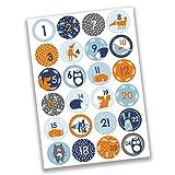 24 Autocollants avec numéro pour Calendrier de l'Avent Animaux de la forêt Nr 32 - Autocollants - pour créer ou décorer