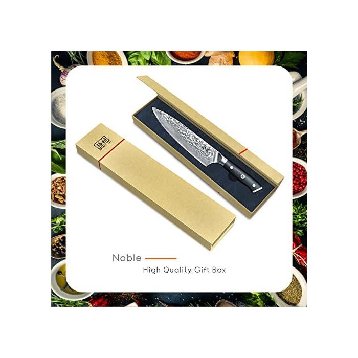 883e35f0ebcb SHAN ZU Couteau de Damas de Chef en Acier Damas Japonais 67 Couche ...