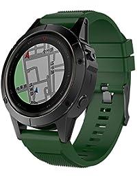 Watch Strap,Hengzi Fashion Simple Personalise Minimalism for Garmin Fenix 5X Plus Band Easy Fit 26mm Width Soft Silicone Watch Strap