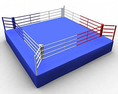 Boxring AIBA 7,8 x 7,8 m (Innenmaß 6,1 x 6,1 m, Höhe ca. 0,9 bis 1,0 m)