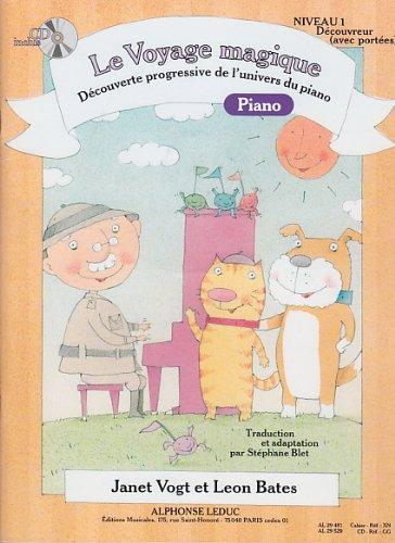 Voyage magique niveau 1 decouvreur (avec portees) piano + 1 CD