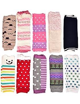 Wobon 6 Paare Kleinkind Mädchen Stulpen, Baby Mädchen Leggings Knieschützer Größe 0-6 Monate, 6-24 Monate