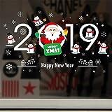 Home Decor Natale Vetrofanie Autoadesivo Pendente pupazzo di neve Ghirlande di natale Ghirlanda di Babbo Natale Ciondolo di Babbo Natale Anno nuovo Adesivi murali in vetro
