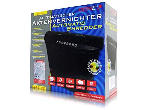 Genie Aktenvernichter CD Akten Papier Shredder Vernichter 245 CD Streifenschnitt NEU